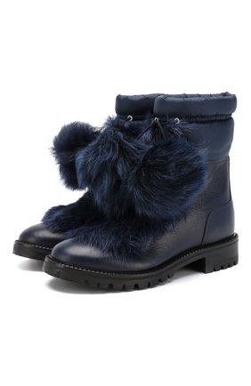 Кожаные ботинки Glacie | Фото №1