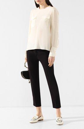 Женские кожаные лоферы CHLOÉ белого цвета, арт. CHC19S13306 | Фото 2