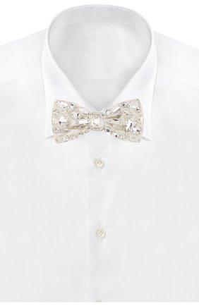 Женский шелковый галстук-бабочка DOLCE & GABBANA белого цвета, арт. FT027R/GD92U | Фото 2