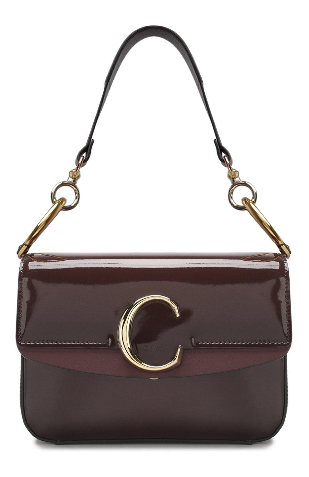 ce44eccf2171 Женская сумка chloé c small CHLOÉ бордовая цвета — купить за 118500 ...