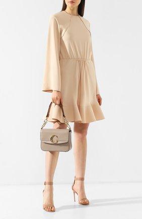 Женская сумка chloé c small CHLOÉ серого цвета, арт. CHC19SS191A37   Фото 2