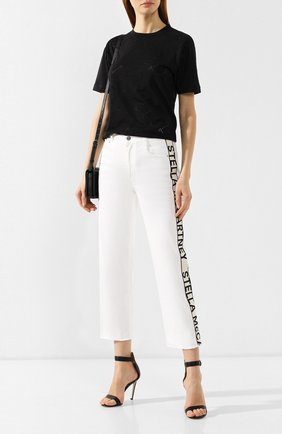 Женская футболка с логотипом бренда STELLA MCCARTNEY черного цвета, арт. 342365/SMW28 | Фото 2