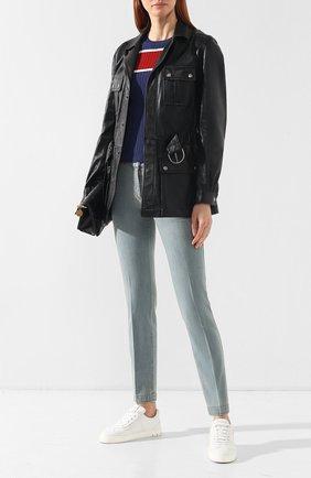Женские джинсы со стрелками BOTTEGA VENETA голубого цвета, арт. 545211/VEWT0 | Фото 2