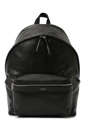 Мужской кожаный рюкзак city SAINT LAURENT черного цвета, арт. 534967/0AY3F   Фото 1