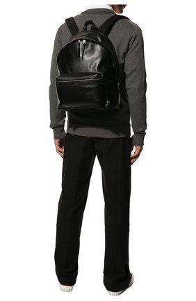 Мужской кожаный рюкзак city SAINT LAURENT черного цвета, арт. 534967/0AY3F   Фото 2