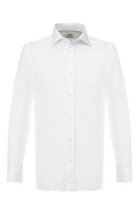 Мужская хлопковая сорочка LUIGI BORRELLI белого цвета, арт. EV08/LUCIAN0/TS10602 | Фото 1