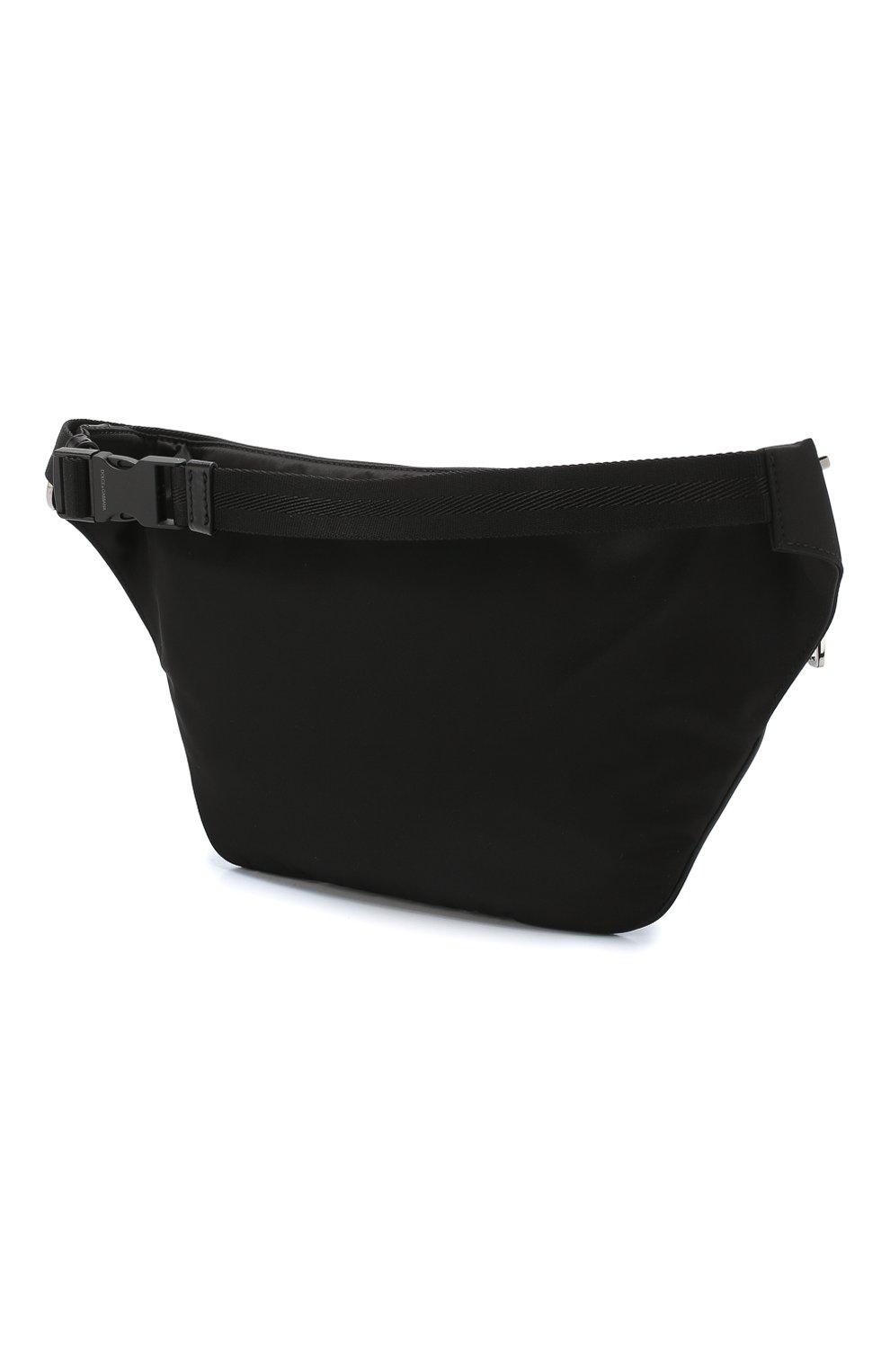 Комбинированная поясная сумка Street Dolce & Gabbana черная | Фото №3