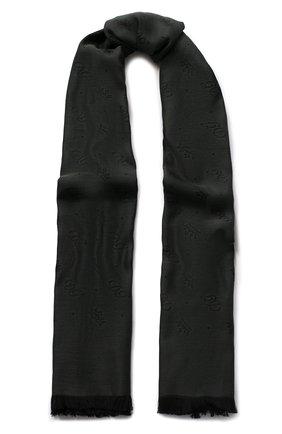 Мужской шарф из смеси хлопка и шелка DOLCE & GABBANA зеленого цвета, арт. GQ244E/G1JCM | Фото 1