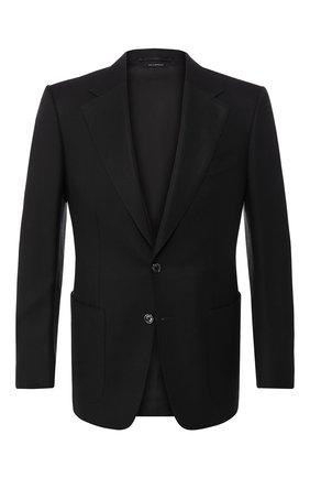 Мужской шерстяной пиджак TOM FORD черного цвета, арт. 550R20/11A740 | Фото 1