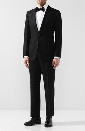 Мужской шерстяной пиджак TOM FORD черного цвета, арт. 550R20/11A740 | Фото 2