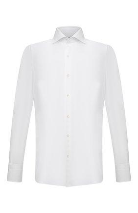 Мужская хлопковая сорочка с воротником кент TOM FORD белого цвета, арт. 5FT000/94S3AX | Фото 1