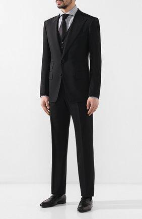 Мужская хлопковая сорочка TOM FORD серого цвета, арт. 5FT020/94F1FE | Фото 2