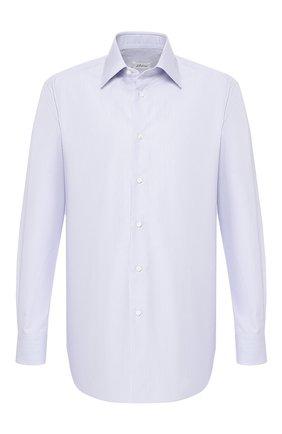 Мужская хлопковая сорочка с воротником кент BRIONI голубого цвета, арт. RCLU20/P806L | Фото 1