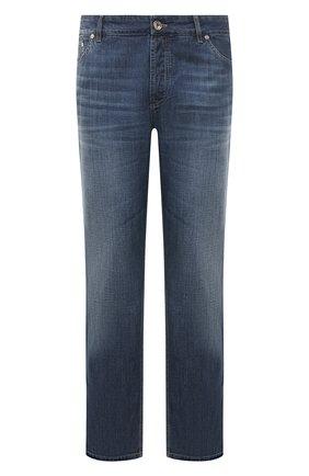 Мужские джинсы прямого кроя BRUNELLO CUCINELLI синего цвета, арт. ME645B2210 | Фото 1