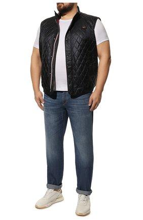 Мужские джинсы прямого кроя BRUNELLO CUCINELLI синего цвета, арт. ME645B2210 | Фото 2