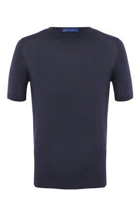 Мужской шелковый джемпер ANDREA CAMPAGNA темно-синего цвета, арт. 43112/23503 | Фото 1