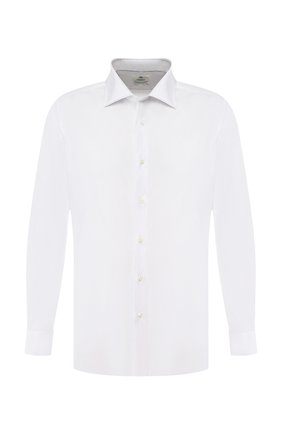 Мужская хлопковая сорочка LUIGI BORRELLI белого цвета, арт. EV08/LUCIAN0/TS10715 | Фото 1