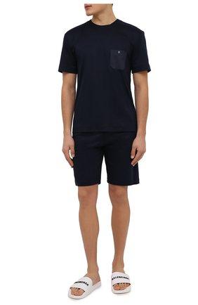 Мужские шорты из смеси хлопка и вискоза ZIMMERLI темно-синего цвета, арт. 8520-21093 | Фото 2