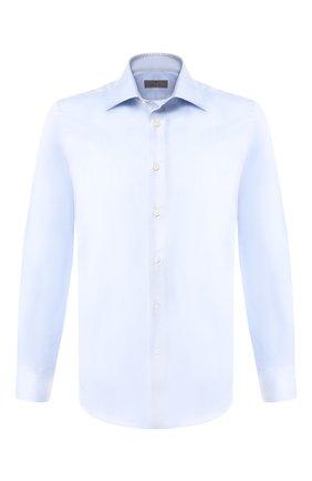 Мужская хлопковая сорочка с воротником кент CANALI голубого цвета, арт. X05/GA00098/S | Фото 1