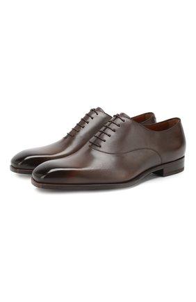 Мужские кожаные оксфорды ZEGNA COUTURE коричневого цвета, арт. A4128X-MSP | Фото 1