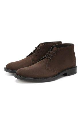 Мужские кожаные ботинки  TOD'S коричневого цвета, арт. XXM45A00D80RE0 | Фото 1