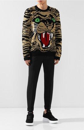 Мужской шерстяной свитер GUCCI золотого цвета, арт. 545734/XKADS   Фото 2