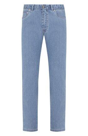 Мужские джинсы прямого кроя BRIONI голубого цвета, арт. SPL40L/P8D22/MERIBEL | Фото 1