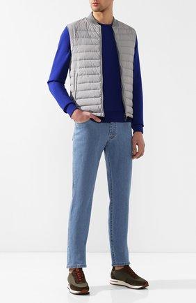 Мужские джинсы прямого кроя BRIONI голубого цвета, арт. SPL40L/P8D22/MERIBEL | Фото 2