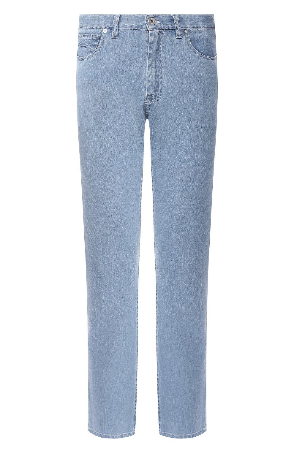 Мужские джинсы прямого кроя BRIONI голубого цвета, арт. SPNB0L/P8D22/C0RVARA | Фото 1