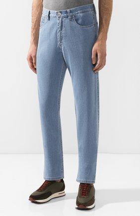 Мужские джинсы прямого кроя BRIONI голубого цвета, арт. SPNB0L/P8D22/C0RVARA | Фото 3