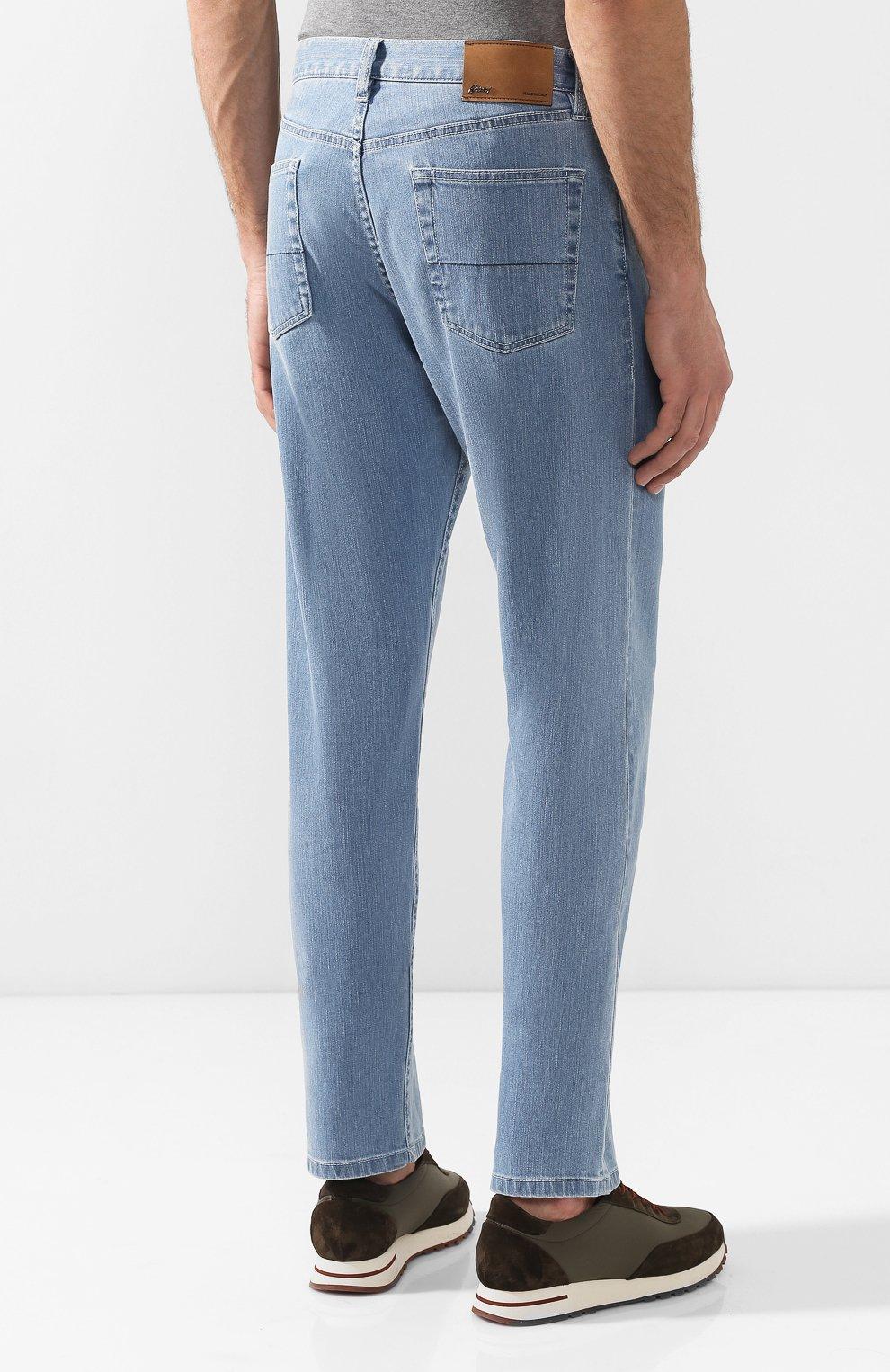 Мужские джинсы прямого кроя BRIONI голубого цвета, арт. SPNB0L/P8D22/C0RVARA | Фото 4