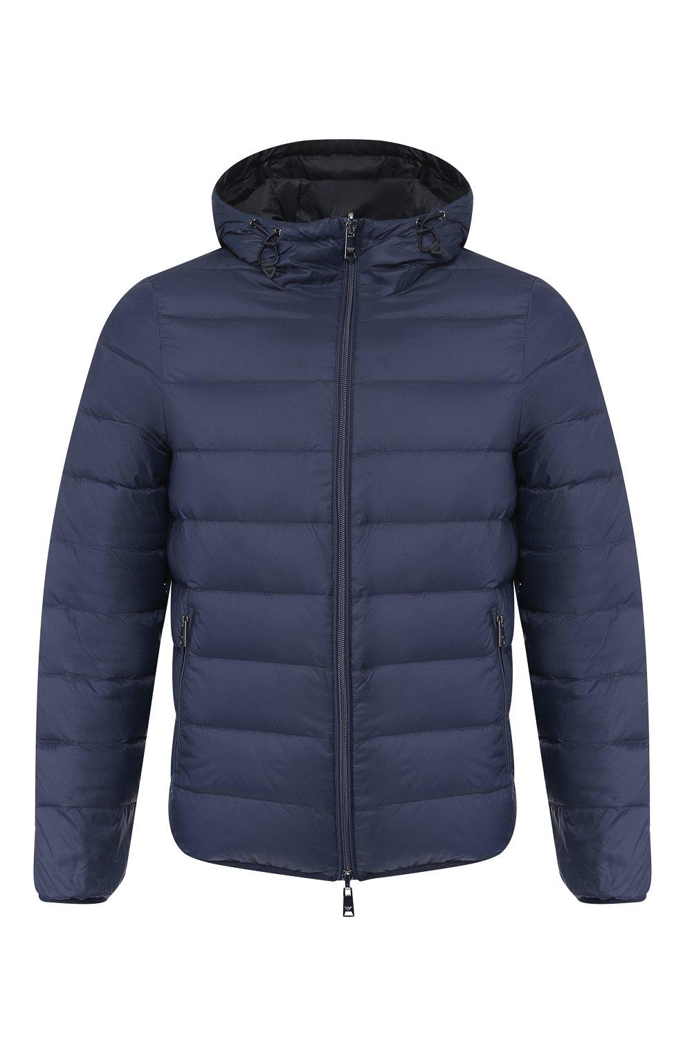 Мужская пуховая куртка EMPORIO ARMANI темно-синего цвета, арт. 8N1B51/1NJMZ   Фото 1