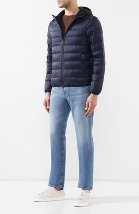 Мужская пуховая куртка EMPORIO ARMANI темно-синего цвета, арт. 8N1B51/1NJMZ   Фото 2