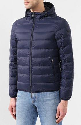 Мужская пуховая куртка EMPORIO ARMANI темно-синего цвета, арт. 8N1B51/1NJMZ   Фото 3
