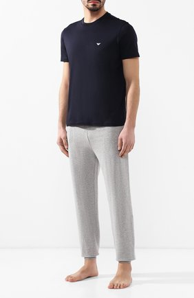 Мужская хлопковая футболка  EMPORIO ARMANI темно-синего цвета, арт. 8N1D61/1JNQZ | Фото 2