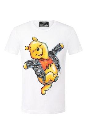 Мужская хлопковая футболка DOM REBEL белого цвета, арт. HAPPY/T-SHIRT | Фото 1