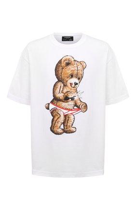 Мужская хлопковая футболка DOM REBEL белого цвета, арт. SNAP/T-SHIRT | Фото 1