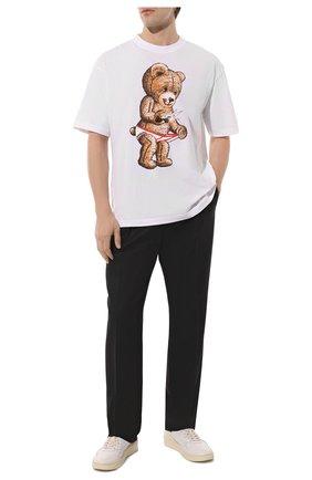 Мужская хлопковая футболка DOM REBEL белого цвета, арт. SNAP/T-SHIRT | Фото 2