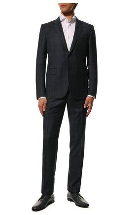 Мужской кожаные дерби TOD'S темно-синего цвета, арт. XXM46B0AU80D9C | Фото 2