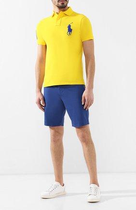 Мужское хлопковое поло POLO RALPH LAUREN желтого цвета, арт. 710692227 | Фото 2