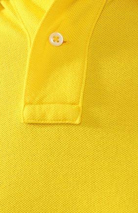Мужское хлопковое поло POLO RALPH LAUREN желтого цвета, арт. 710692227 | Фото 5