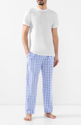 Мужские хлопковые домашние брюки POLO RALPH LAUREN синего цвета, арт. 714730610 | Фото 2