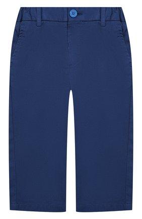 Детские хлопковые брюки BURBERRY синего цвета, арт. 8004888 | Фото 1