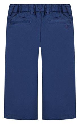 Детские хлопковые брюки BURBERRY синего цвета, арт. 8004888 | Фото 2
