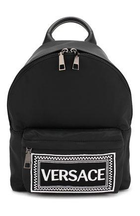 Рюкзак с кожаной отделкой | Фото №1
