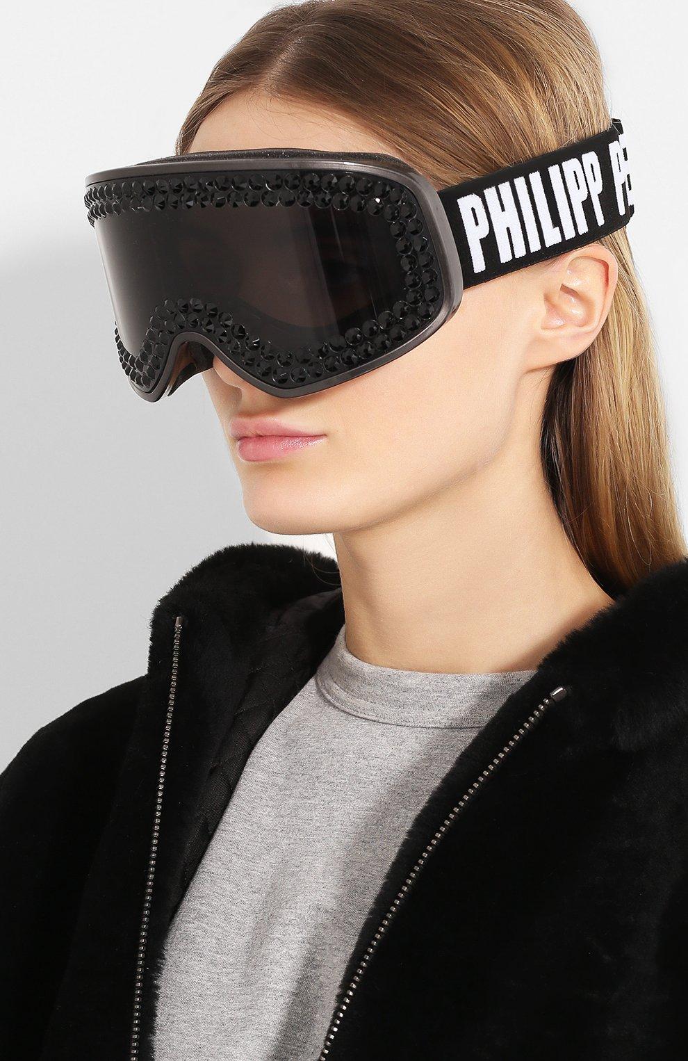 Горнолыжная маска Philipp Plein черные | Фото №2