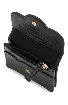 Женские кожаный кошелек SEE BY CHLOÉ черного цвета, арт. CHS18UP782388 | Фото 3