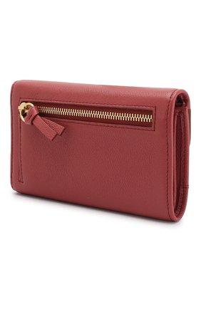 Женские кожаный кошелек SEE BY CHLOÉ розового цвета, арт. CHS18UP784388 | Фото 2