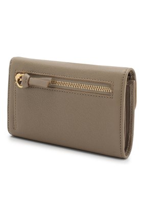 Женские кожаный кошелек SEE BY CHLOÉ серого цвета, арт. CHS18UP784388 | Фото 2