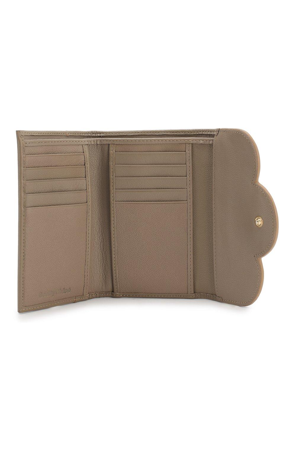 Женские кожаный кошелек SEE BY CHLOÉ серого цвета, арт. CHS18UP784388 | Фото 3